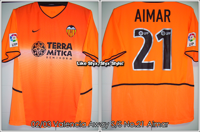 02/03 Valencia Away S/S No.21 Aimar