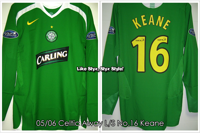 05/06 Celtic Away L/S No.16 Keane