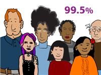 유전적 유사성 (개인간 0.5% 차이)