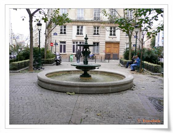 <파리의연인>에 나왔던 분수 광장(?)