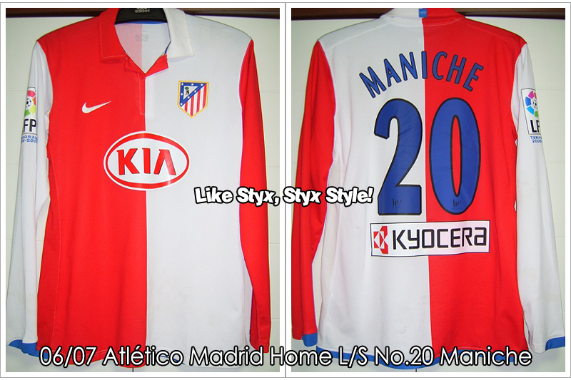 06/07 Atlético Madrid Home L/S No.20 Maniche