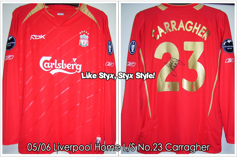 05/06 Liverpool Home L/S No.23 Carragher - Match Worn