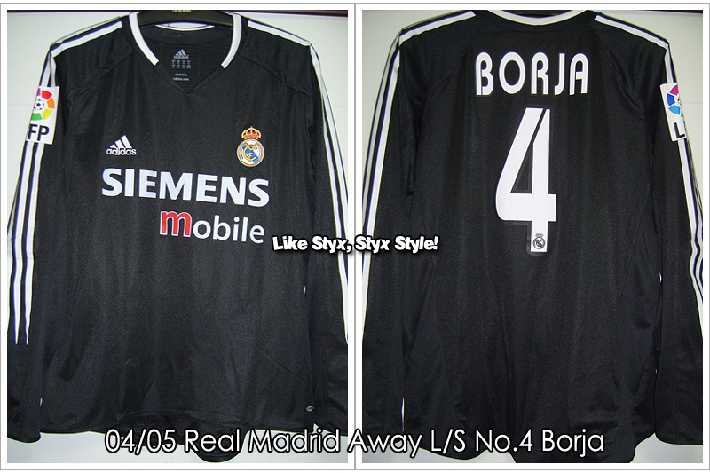 04/05 Real Madrid Away L/S No.4 Borja - Match Worn