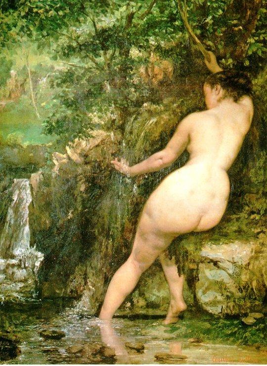 <Gustave Courbet, La Source, 1868, 128x97cm, Huile sur toile>